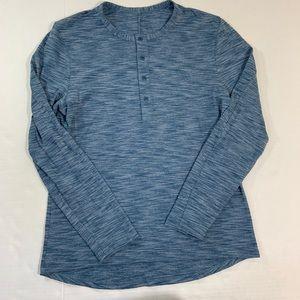 Men's Lululemon Long Sleeve Henley Shirt M